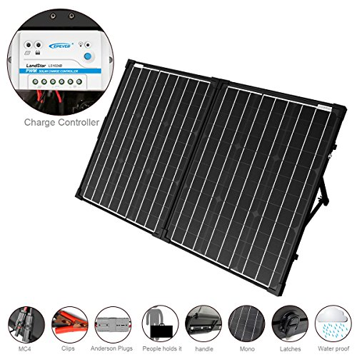Acopower 100w Foldable Solar Panel Kit 12v Battery And