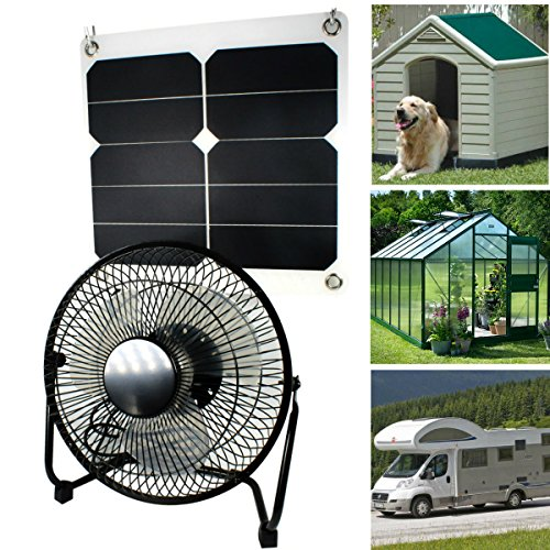 10w Solar Panel Fan Outdoor Home Chicken House Rv Car