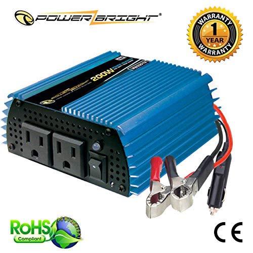 Powerbright Pw200 12 Power Inverter 200 Watt 12 Volt Dc To